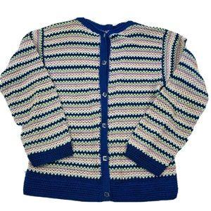 Vintage Handmade Knit Cardigan Sweater